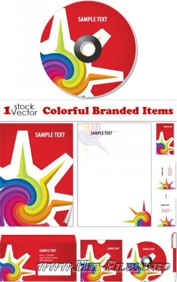 Colorful Branded Items Vector