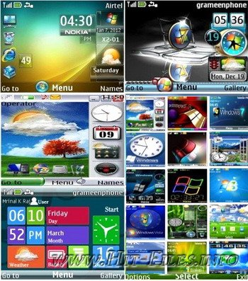 Темы для Nokia s40 - Стиль Windows (320x240)