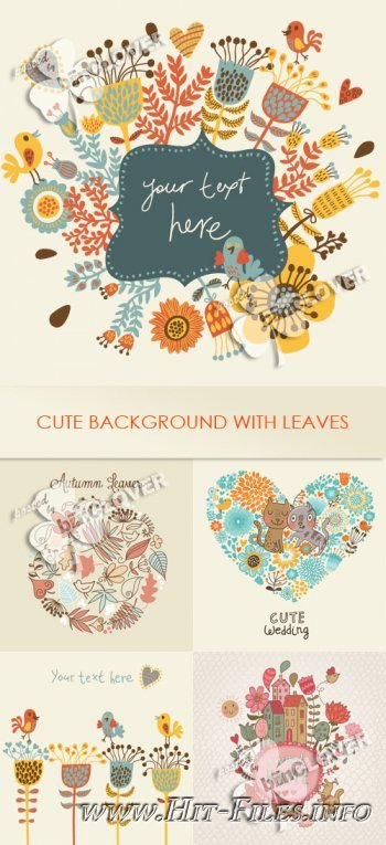 Cute background with leaves 0262
