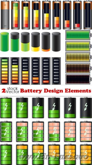 Vectors - Battery Design Elements