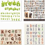 Alphabet, Numbers and Symbols - 25 EPS Vector Stock