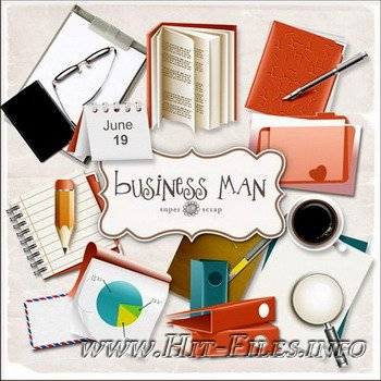 Скрап набор - Business man