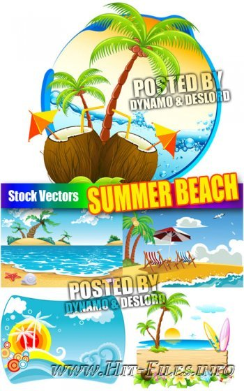 Summer beach - Stock Vectors
