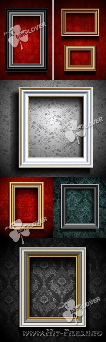 Photo frames on wall 0233