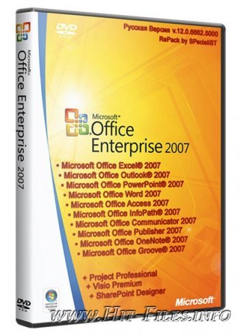 Microsoft Office 2007 Enterprise + Visio Premium + Project Professional + SharePoint Designer SP3 RePack by SPecialiST 12.8