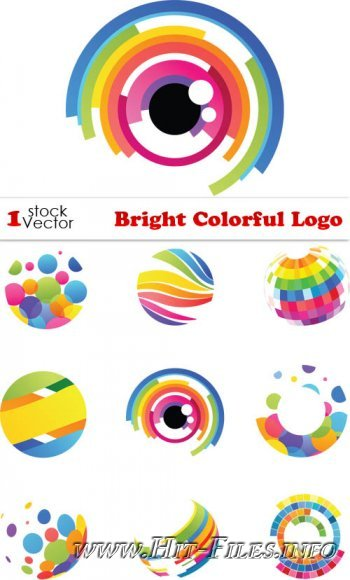 Bright Colorful Logo Vector