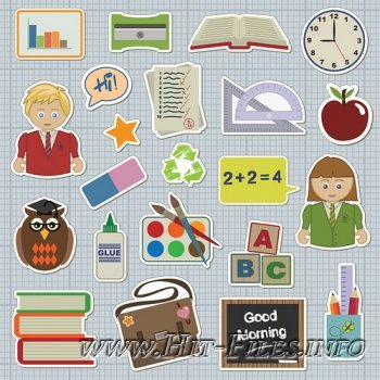 School icons vector by GianFerdinand / Иконки- школа
