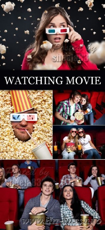 Сток фото - People Watching Movie