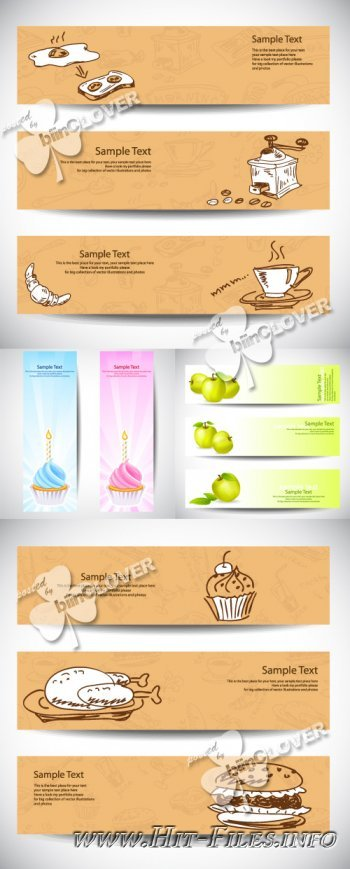 Set of banners 0259