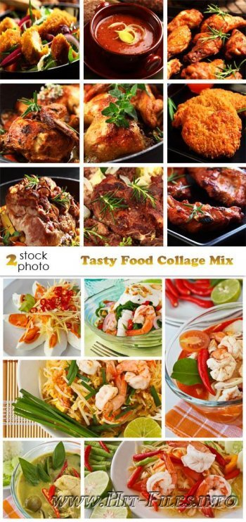 Фотоклипарт - Tasty Food Collage Mix