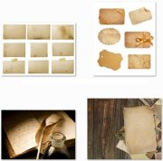 Old and Grunge Paper - 25 HQ Stock Photo