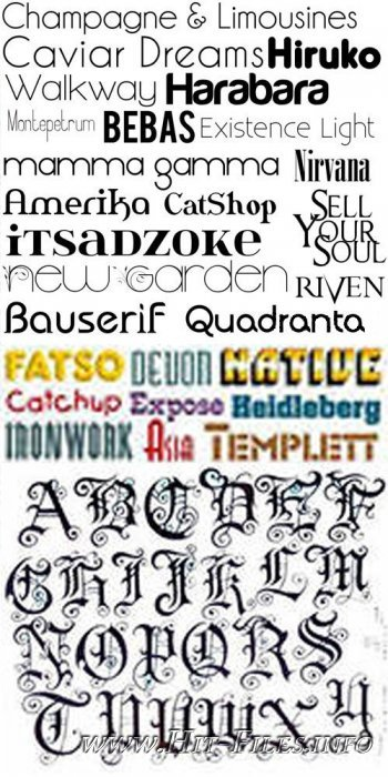 Сollection of the best fonts